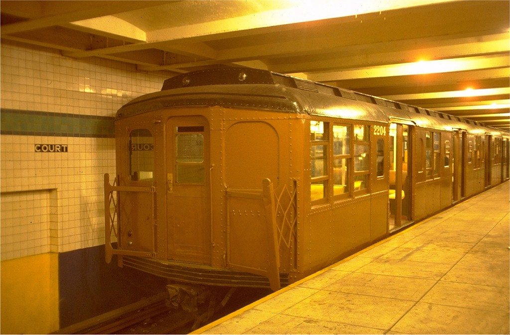 (163k, 1024x673)<br><b>Country:</b> United States<br><b>City:</b> New York<br><b>System:</b> New York City Transit<br><b>Location:</b> New York Transit Museum<br><b>Car:</b> BMT A/B-Type Standard 2204 <br><b>Photo by:</b> Joe Testagrose<br><b>Date:</b> 7/24/1977<br><b>Viewed (this week/total):</b> 7 / 3625