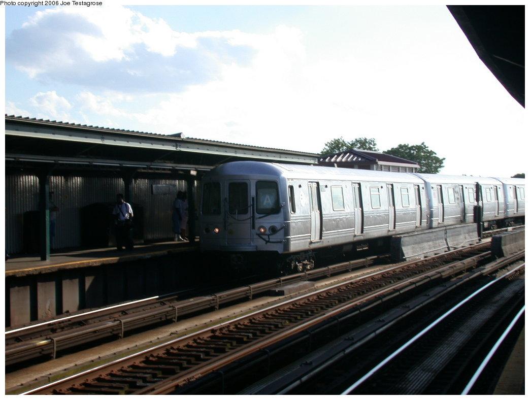 (164k, 1044x788)<br><b>Country:</b> United States<br><b>City:</b> New York<br><b>System:</b> New York City Transit<br><b>Line:</b> IND Fulton Street Line<br><b>Location:</b> Rockaway Boulevard <br><b>Route:</b> A<br><b>Car:</b> R-44 (St. Louis, 1971-73) 5216 <br><b>Photo by:</b> Joe Testagrose<br><b>Date:</b> 6/19/2004<br><b>Viewed (this week/total):</b> 0 / 2968