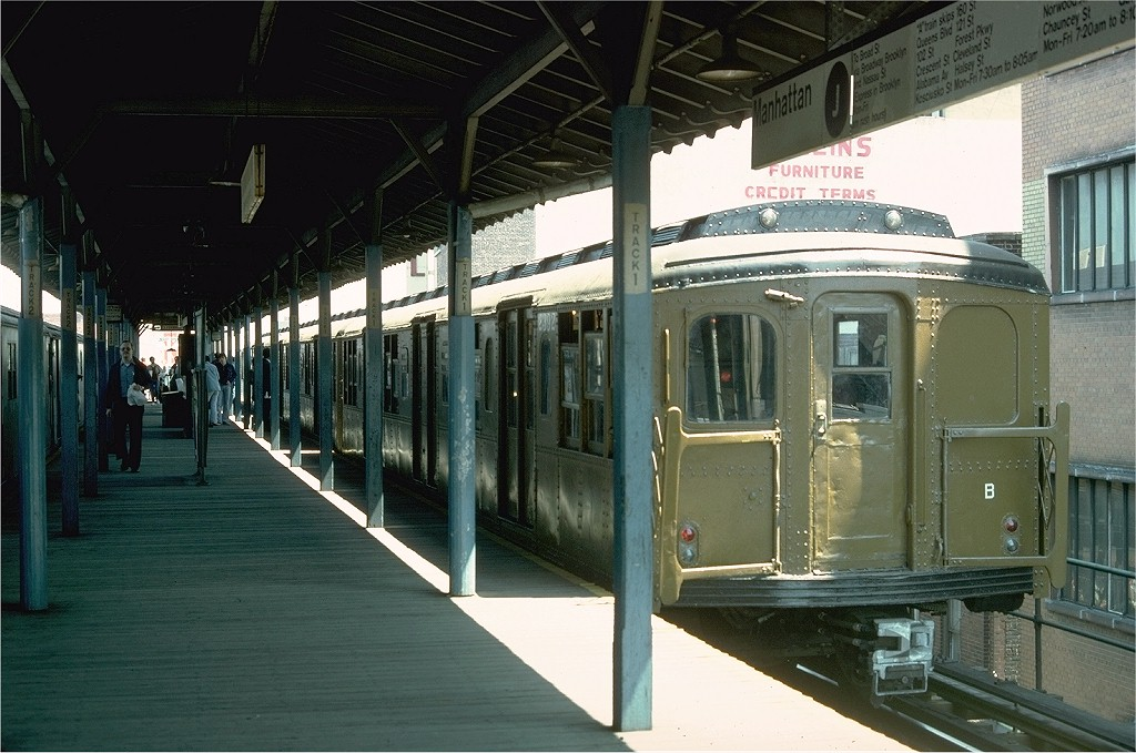 (200k, 1024x679)<br><b>Country:</b> United States<br><b>City:</b> New York<br><b>System:</b> New York City Transit<br><b>Line:</b> BMT Nassau Street/Jamaica Line<br><b>Location:</b> 168th Street (Demolished) <br><b>Route:</b> Fan Trip<br><b>Car:</b> BMT A/B-Type Standard 2392 <br><b>Photo by:</b> Joe Testagrose<br><b>Date:</b> 4/30/1977<br><b>Viewed (this week/total):</b> 1 / 4514