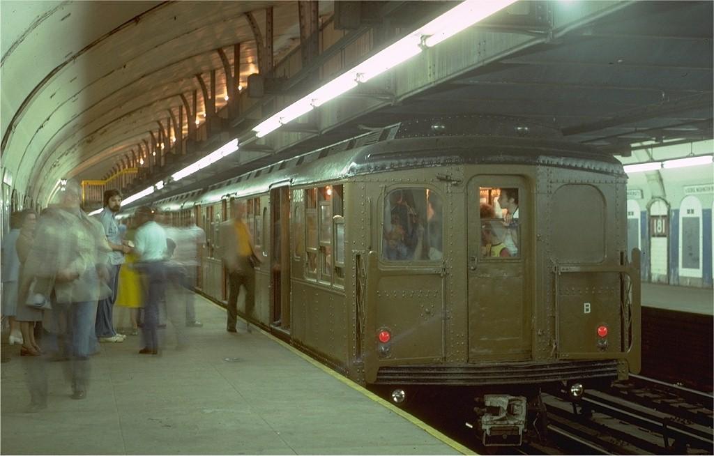 (157k, 1024x654)<br><b>Country:</b> United States<br><b>City:</b> New York<br><b>System:</b> New York City Transit<br><b>Line:</b> IND 8th Avenue Line<br><b>Location:</b> 181st Street <br><b>Route:</b> Fan Trip<br><b>Car:</b> BMT A/B-Type Standard 2392 <br><b>Photo by:</b> Steve Zabel<br><b>Collection of:</b> Joe Testagrose<br><b>Date:</b> 5/21/1978<br><b>Viewed (this week/total):</b> 4 / 4296
