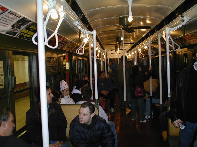 (88k, 800x600)<br><b>Country:</b> United States<br><b>City:</b> New York<br><b>System:</b> New York City Transit<br><b>Route:</b> Fan Trip<br><b>Car:</b> R-9 (Pressed Steel, 1940)  1802 <br><b>Photo by:</b> Todd Glickman<br><b>Date:</b> 11/27/2004<br><b>Notes:</b> In service 57th St-Whitehall<br><b>Viewed (this week/total):</b> 2 / 2835