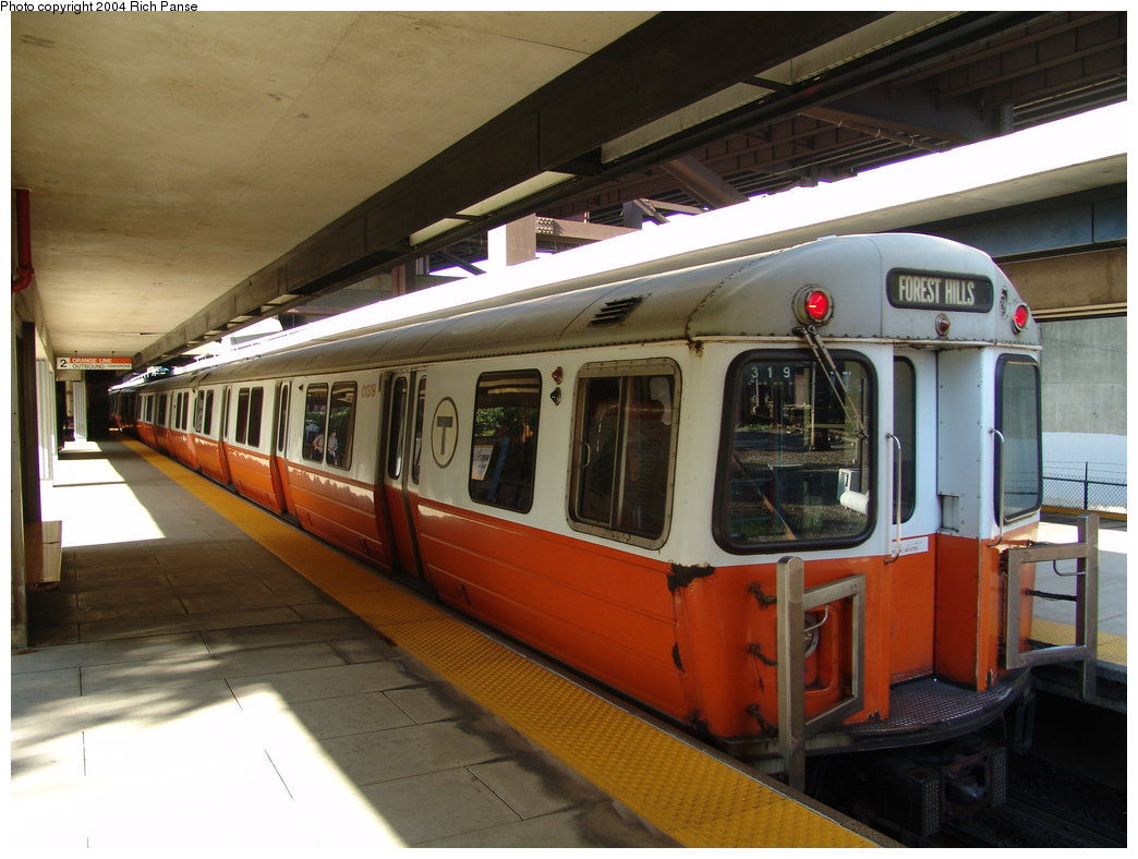 (170k, 1044x788)<br><b>Country:</b> United States<br><b>City:</b> Boston, MA<br><b>System:</b> MBTA<br><b>Line:</b> MBTA Orange Line<br><b>Location:</b> Sullivan Square <br><b>Car:</b> MBTA 01200 Series (Hawker-Siddley, 1980-1981)   <br><b>Photo by:</b> Richard Panse<br><b>Date:</b> 9/3/2004<br><b>Viewed (this week/total):</b> 0 / 2509