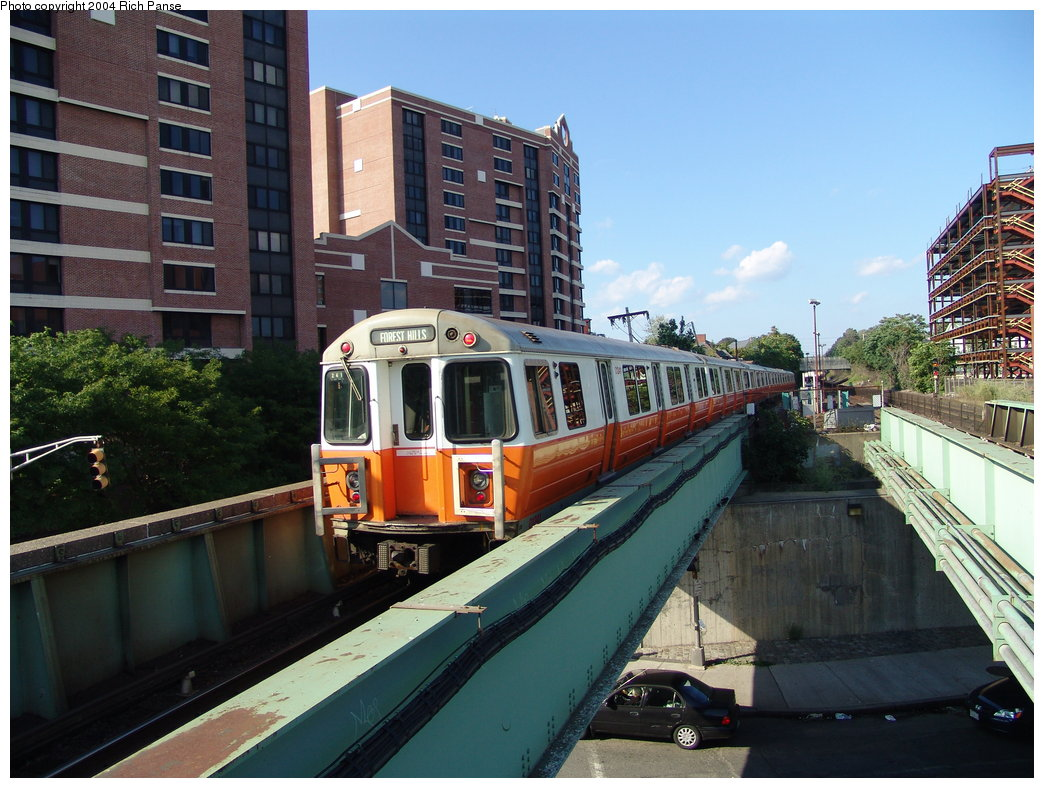 (203k, 1044x788)<br><b>Country:</b> United States<br><b>City:</b> Boston, MA<br><b>System:</b> MBTA<br><b>Line:</b> MBTA Orange Line<br><b>Location:</b> Malden <br><b>Car:</b> MBTA 01200 Series (Hawker-Siddley, 1980-1981)   <br><b>Photo by:</b> Richard Panse<br><b>Date:</b> 9/3/2004<br><b>Viewed (this week/total):</b> 0 / 3785