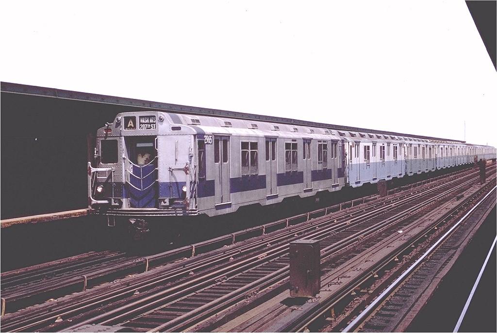 (185k, 1024x687)<br><b>Country:</b> United States<br><b>City:</b> New York<br><b>System:</b> New York City Transit<br><b>Line:</b> IND Fulton Street Line<br><b>Location:</b> 88th Street/Boyd Avenue <br><b>Route:</b> A<br><b>Car:</b> R-10 (American Car & Foundry, 1948) 2965 (ex-1818)<br><b>Photo by:</b> Joe Testagrose<br><b>Date:</b> 6/29/1970<br><b>Viewed (this week/total):</b> 4 / 3717