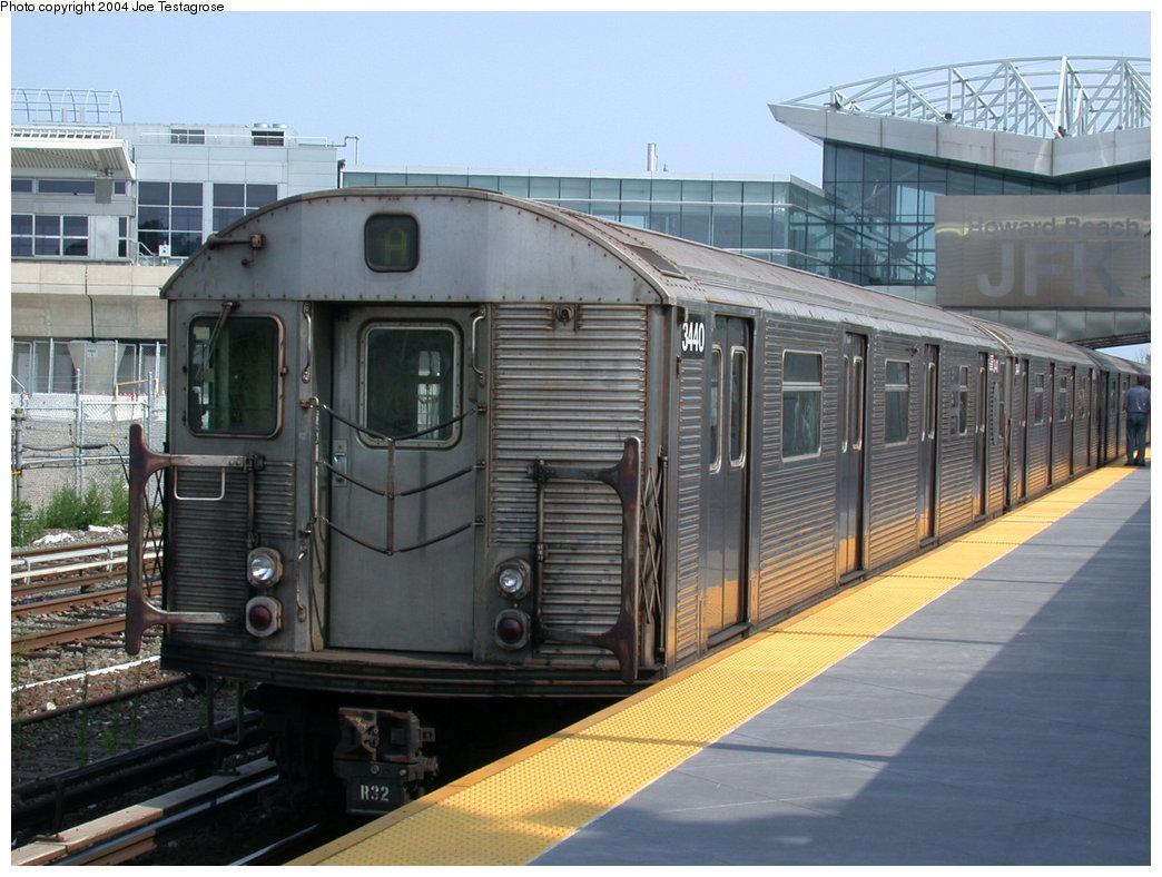 (209k, 1044x788)<br><b>Country:</b> United States<br><b>City:</b> New York<br><b>System:</b> New York City Transit<br><b>Line:</b> IND Rockaway<br><b>Location:</b> Howard Beach <br><b>Route:</b> A<br><b>Car:</b> R-32 (Budd, 1964)  3440 <br><b>Photo by:</b> Joe Testagrose<br><b>Date:</b> 7/17/2004<br><b>Viewed (this week/total):</b> 1 / 4195