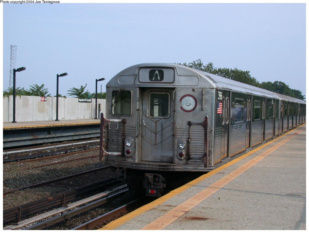 (191k, 1044x788)<br><b>Country:</b> United States<br><b>City:</b> New York<br><b>System:</b> New York City Transit<br><b>Line:</b> IND Rockaway<br><b>Location:</b> Aqueduct/North Conduit Avenue <br><b>Route:</b> A<br><b>Car:</b> R-38 (St. Louis, 1966-1967)  3986 <br><b>Photo by:</b> Joe Testagrose<br><b>Date:</b> 7/17/2004<br><b>Viewed (this week/total):</b> 3 / 3678