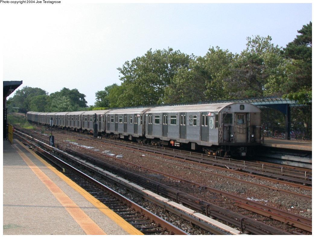 (215k, 1044x788)<br><b>Country:</b> United States<br><b>City:</b> New York<br><b>System:</b> New York City Transit<br><b>Line:</b> IND Rockaway<br><b>Location:</b> Aqueduct/North Conduit Avenue <br><b>Route:</b> A<br><b>Car:</b> R-32 (Budd, 1964)  3383 <br><b>Photo by:</b> Joe Testagrose<br><b>Date:</b> 7/17/2004<br><b>Viewed (this week/total):</b> 0 / 3136