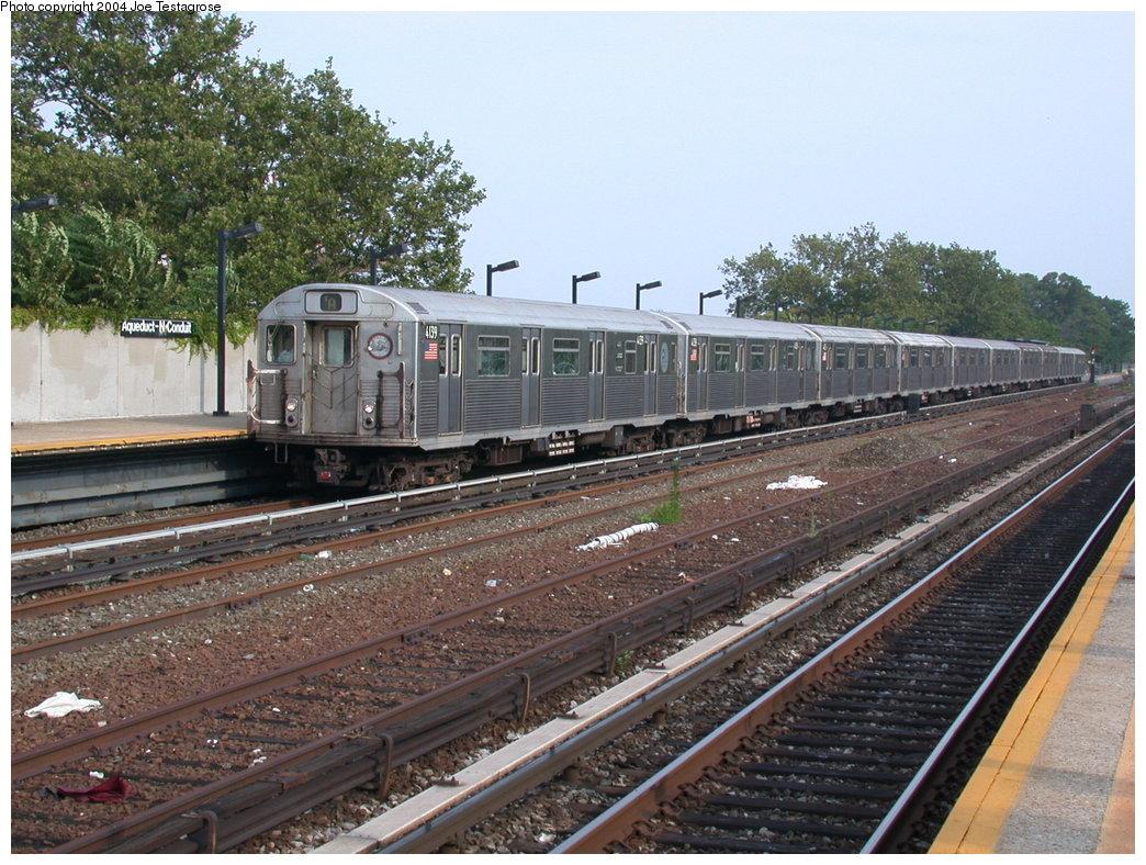 (254k, 1044x788)<br><b>Country:</b> United States<br><b>City:</b> New York<br><b>System:</b> New York City Transit<br><b>Line:</b> IND Rockaway<br><b>Location:</b> Aqueduct/North Conduit Avenue <br><b>Route:</b> A<br><b>Car:</b> R-38 (St. Louis, 1966-1967)  4139 <br><b>Photo by:</b> Joe Testagrose<br><b>Date:</b> 7/17/2004<br><b>Viewed (this week/total):</b> 0 / 3986