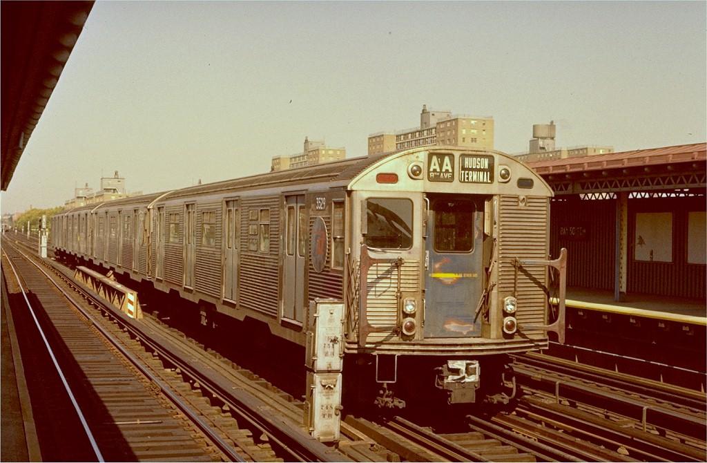 (198k, 1024x670)<br><b>Country:</b> United States<br><b>City:</b> New York<br><b>System:</b> New York City Transit<br><b>Line:</b> BMT West End Line<br><b>Location:</b> Bay 50th Street <br><b>Car:</b> R-32 (Budd, 1964)  3529 <br><b>Photo by:</b> Ed McKernan<br><b>Collection of:</b> Joe Testagrose<br><b>Date:</b> 9/22/1974<br><b>Viewed (this week/total):</b> 10 / 4987