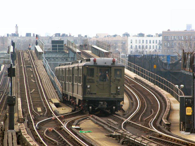 (127k, 800x600)<br><b>Country:</b> United States<br><b>City:</b> New York<br><b>System:</b> New York City Transit<br><b>Line:</b> IRT Pelham Line<br><b>Location:</b> Middletown Road <br><b>Route:</b> Fan Trip<br><b>Car:</b> Low-V (Museum Train) 5443 <br><b>Photo by:</b> Dante D. Angerville<br><b>Date:</b> 12/19/2004<br><b>Viewed (this week/total):</b> 0 / 5972