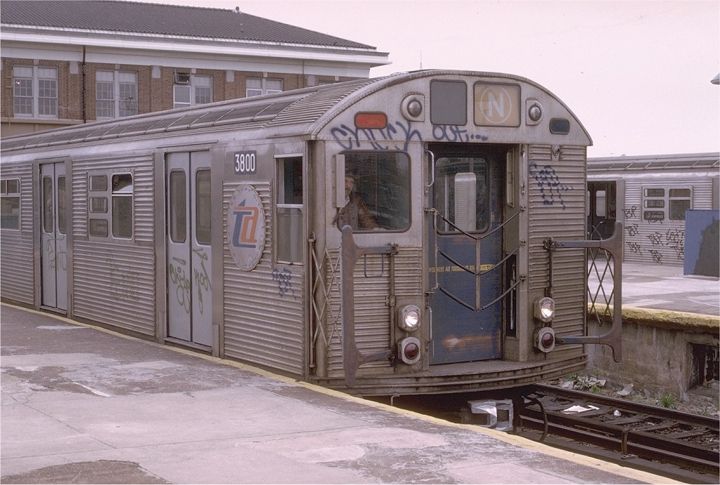 (205k, 1024x690)<br><b>Country:</b> United States<br><b>City:</b> New York<br><b>System:</b> New York City Transit<br><b>Location:</b> Coney Island/Stillwell Avenue<br><b>Route:</b> N<br><b>Car:</b> R-32 (Budd, 1964)  3800 <br><b>Photo by:</b> Joe Testagrose<br><b>Date:</b> 5/5/1974<br><b>Viewed (this week/total):</b> 4 / 3544