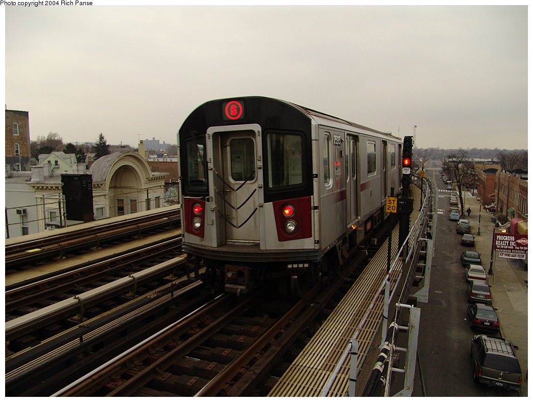 (177k, 1044x788)<br><b>Country:</b> United States<br><b>City:</b> New York<br><b>System:</b> New York City Transit<br><b>Line:</b> IRT Pelham Line<br><b>Location:</b> Castle Hill Avenue <br><b>Route:</b> 6<br><b>Car:</b> R-142A (Primary Order, Kawasaki, 1999-2002)  7535 <br><b>Photo by:</b> Richard Panse<br><b>Date:</b> 12/19/2004<br><b>Viewed (this week/total):</b> 2 / 4299