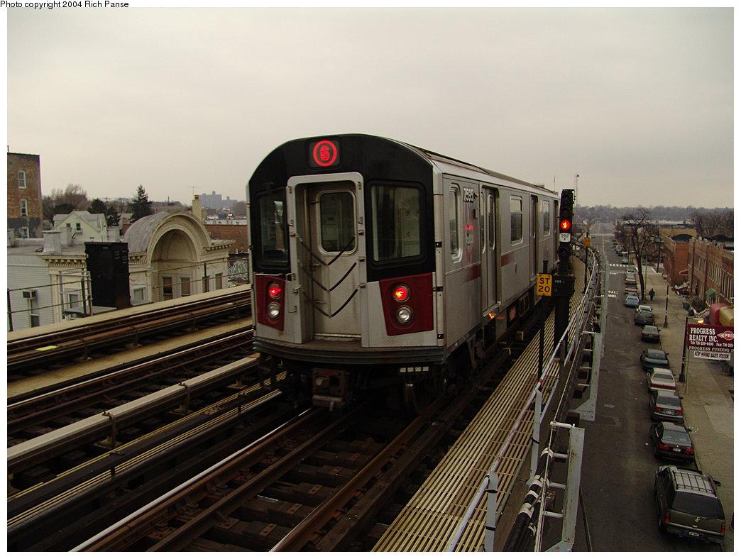 (177k, 1044x788)<br><b>Country:</b> United States<br><b>City:</b> New York<br><b>System:</b> New York City Transit<br><b>Line:</b> IRT Pelham Line<br><b>Location:</b> Castle Hill Avenue <br><b>Route:</b> 6<br><b>Car:</b> R-142A (Primary Order, Kawasaki, 1999-2002)  7535 <br><b>Photo by:</b> Richard Panse<br><b>Date:</b> 12/19/2004<br><b>Viewed (this week/total):</b> 0 / 4313