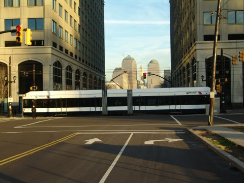 (40k, 480x360)<br><b>Country:</b> United States<br><b>City:</b> Jersey City, NJ<br><b>System:</b> Hudson Bergen Light Rail<br><b>Location:</b> Exchange Place <br><b>Photo by:</b> Richard Panse<br><b>Date:</b> 11/30/2004<br><b>Viewed (this week/total):</b> 0 / 3196