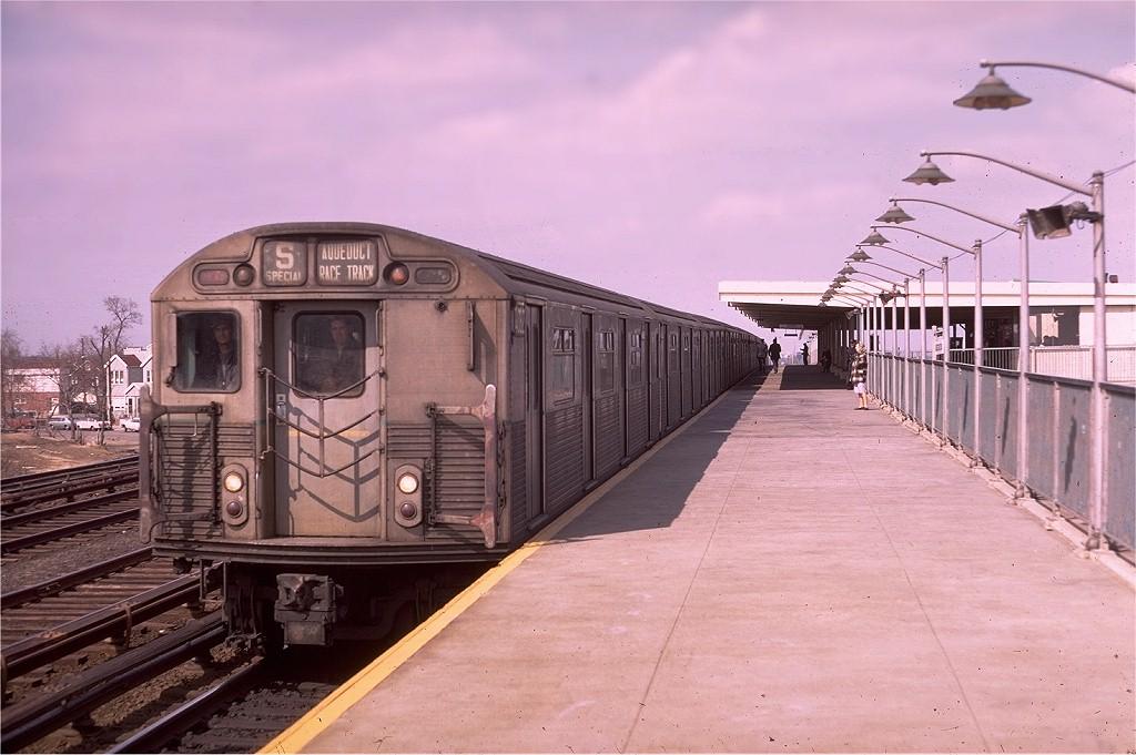 (175k, 1024x681)<br><b>Country:</b> United States<br><b>City:</b> New York<br><b>System:</b> New York City Transit<br><b>Line:</b> IND Rockaway<br><b>Location:</b> Aqueduct Racetrack <br><b>Route:</b> S<br><b>Car:</b> R-38 (St. Louis, 1966-1967)  4062 <br><b>Photo by:</b> Doug Grotjahn<br><b>Collection of:</b> Joe Testagrose<br><b>Date:</b> 3/15/1969<br><b>Viewed (this week/total):</b> 2 / 6197
