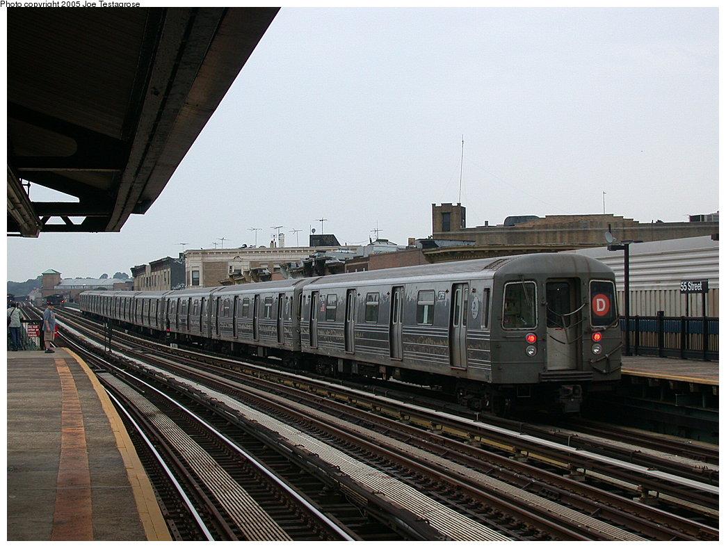 (220k, 1044x788)<br><b>Country:</b> United States<br><b>City:</b> New York<br><b>System:</b> New York City Transit<br><b>Line:</b> BMT West End Line<br><b>Location:</b> 55th Street <br><b>Route:</b> D<br><b>Car:</b> R-68 (Westinghouse-Amrail, 1986-1988)  2756 <br><b>Photo by:</b> Joe Testagrose<br><b>Date:</b> 7/18/2004<br><b>Viewed (this week/total):</b> 4 / 2889