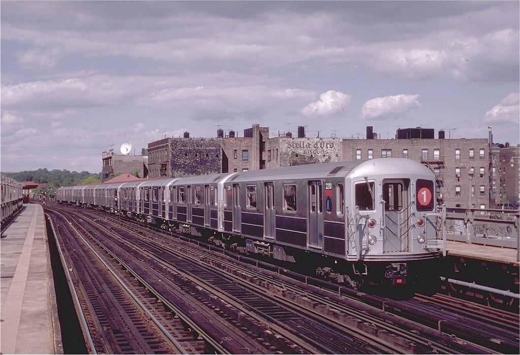 (232k, 1024x698)<br><b>Country:</b> United States<br><b>City:</b> New York<br><b>System:</b> New York City Transit<br><b>Line:</b> IRT West Side Line<br><b>Location:</b> 238th Street <br><b>Route:</b> 1<br><b>Car:</b> R-62A (Bombardier, 1984-1987)  2210 <br><b>Photo by:</b> Eric Oszustowicz<br><b>Collection of:</b> Joe Testagrose<br><b>Date:</b> 8/23/1987<br><b>Viewed (this week/total):</b> 0 / 4532