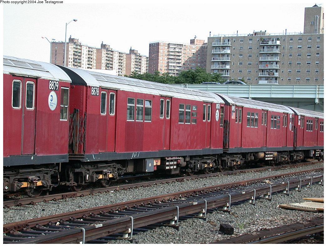 (275k, 1044x788)<br><b>Country:</b> United States<br><b>City:</b> New York<br><b>System:</b> New York City Transit<br><b>Location:</b> Coney Island Yard<br><b>Car:</b> R-33 Main Line (St. Louis, 1962-63) 8878 <br><b>Photo by:</b> Joe Testagrose<br><b>Date:</b> 7/25/2004<br><b>Viewed (this week/total):</b> 0 / 3494