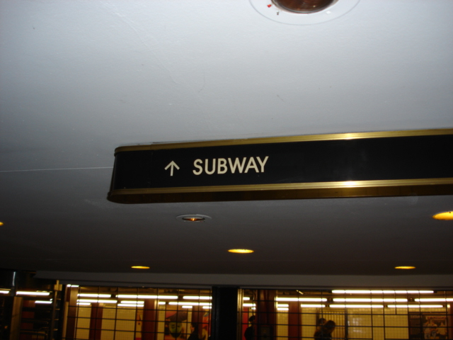 (131k, 640x480)<br><b>Country:</b> United States<br><b>City:</b> New York<br><b>System:</b> New York City Transit<br><b>Line:</b> IND 6th Avenue Line<br><b>Location:</b> 47-50th Street/Rockefeller Center <br><b>Photo by:</b> Kris Naudus<br><b>Date:</b> 1/13/2004<br><b>Notes:</b> Various entryways and signage at Rock. Center.<br><b>Viewed (this week/total):</b> 1 / 3354