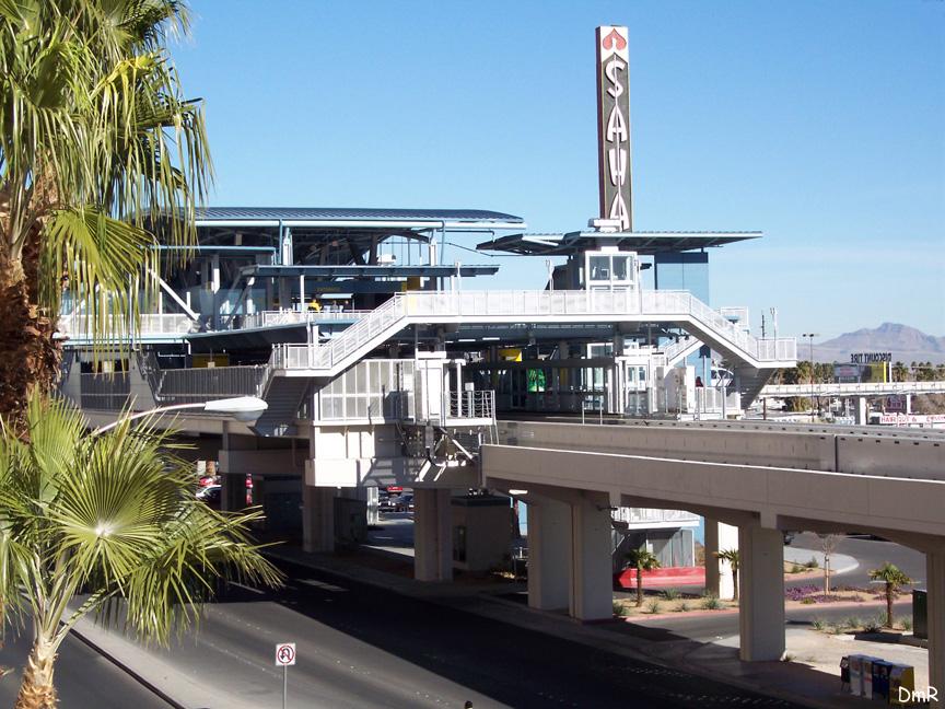 (259k, 864x648)<br><b>Country:</b> United States<br><b>City:</b> Las Vegas, NV<br><b>System:</b> Las Vegas Monorail<br><b>Location:</b> Sahara<br><b>Photo by:</b> D. Reinecke<br><b>Date:</b> 1/13/2005<br><b>Notes:</b> Station view<br><b>Viewed (this week/total):</b> 2 / 3370