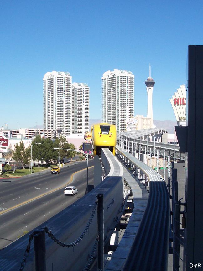 (228k, 648x864)<br><b>Country:</b> United States<br><b>City:</b> Las Vegas, NV<br><b>System:</b> Las Vegas Monorail<br><b>Location:</b> Las Vegas Convention Center <br><b>Photo by:</b> D. Reinecke<br><b>Date:</b> 1/13/2005<br><b>Notes:</b> Yellow train entering station<br><b>Viewed (this week/total):</b> 1 / 2969