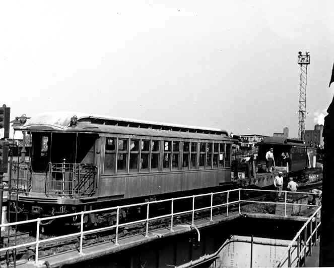 (28k, 663x531)<br><b>Country:</b> United States<br><b>City:</b> New York<br><b>System:</b> New York City Transit<br><b>Line:</b> BMT Canarsie Line<br><b>Location:</b> Atlantic Avenue <br><b>Route:</b> Work Service<br><b>Car:</b> BMT Elevated Gate Car 1220 <br><b>Photo by:</b> Frank Pfuhler<br><b>Date:</b> 10/8/1954<br><b>Viewed (this week/total):</b> 1 / 2350