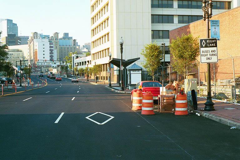 (101k, 768x512)<br><b>Country:</b> United States<br><b>City:</b> Boston, MA<br><b>System:</b> MBTA Boston<br><b>Line:</b> MBTA Silver Line (Phase I)<br><b>Location:</b> Washington St.<br><b>Photo by:</b> Andrew Sullivan<br><b>Date:</b> 8/2002<br><b>Viewed (this week/total):</b> 0 / 3182