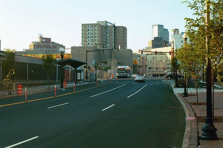 (82k, 768x512)<br><b>Country:</b> United States<br><b>City:</b> Boston, MA<br><b>System:</b> MBTA Boston<br><b>Line:</b> MBTA Silver Line (Phase I)<br><b>Location:</b> Washington St.<br><b>Photo by:</b> Andrew Sullivan<br><b>Date:</b> 8/2002<br><b>Viewed (this week/total):</b> 3 / 3939