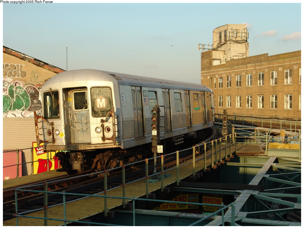 (197k, 1044x788)<br><b>Country:</b> United States<br><b>City:</b> New York<br><b>System:</b> New York City Transit<br><b>Line:</b> BMT Myrtle Avenue Line<br><b>Location:</b> Wyckoff Avenue <br><b>Car:</b> R-42 (St. Louis, 1969-1970)  4855 <br><b>Photo by:</b> Richard Panse<br><b>Date:</b> 2/22/2005<br><b>Viewed (this week/total):</b> 0 / 3978