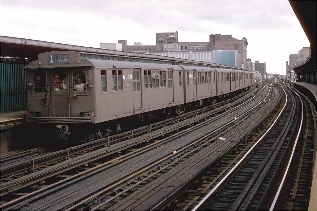 (231k, 1024x682)<br><b>Country:</b> United States<br><b>City:</b> New York<br><b>System:</b> New York City Transit<br><b>Line:</b> BMT Nassau Street/Jamaica Line<br><b>Location:</b> 160th Street (Demolished) <br><b>Route:</b> Fan Trip<br><b>Car:</b> BMT D-Type Triplex 6019 <br><b>Photo by:</b> Doug Grotjahn<br><b>Collection of:</b> Joe Testagrose<br><b>Date:</b> 9/11/1977<br><b>Viewed (this week/total):</b> 1 / 3946