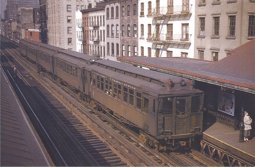 (284k, 1024x672)<br><b>Country:</b> United States<br><b>City:</b> New York<br><b>System:</b> New York City Transit<br><b>Line:</b> 3rd Avenue El<br><b>Location:</b> 34th Street <br><b>Car:</b> MUDC 1125 <br><b>Photo by:</b> Frank Goldsmith<br><b>Collection of:</b> Joe Testagrose<br><b>Date:</b> 5/6/1955<br><b>Viewed (this week/total):</b> 0 / 4939