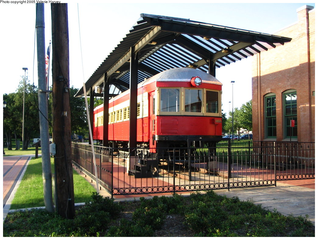 (232k, 1044x788)<br><b>Country:</b> United States<br><b>City:</b> Dallas, TX<br><b>System:</b> DART<br><b>Line:</b> DART (Dallas) Red Line/Downtown Trunk<br><b>Location:</b> Downtown Plano <br><b>Photo by:</b> Valerie Harvey<br><b>Date:</b> 6/13/2004<br><b>Notes:</b> Texas Electric Exhibit on site of former Dallas/Sherman Texas Electric line.<br><b>Viewed (this week/total):</b> 2 / 2099