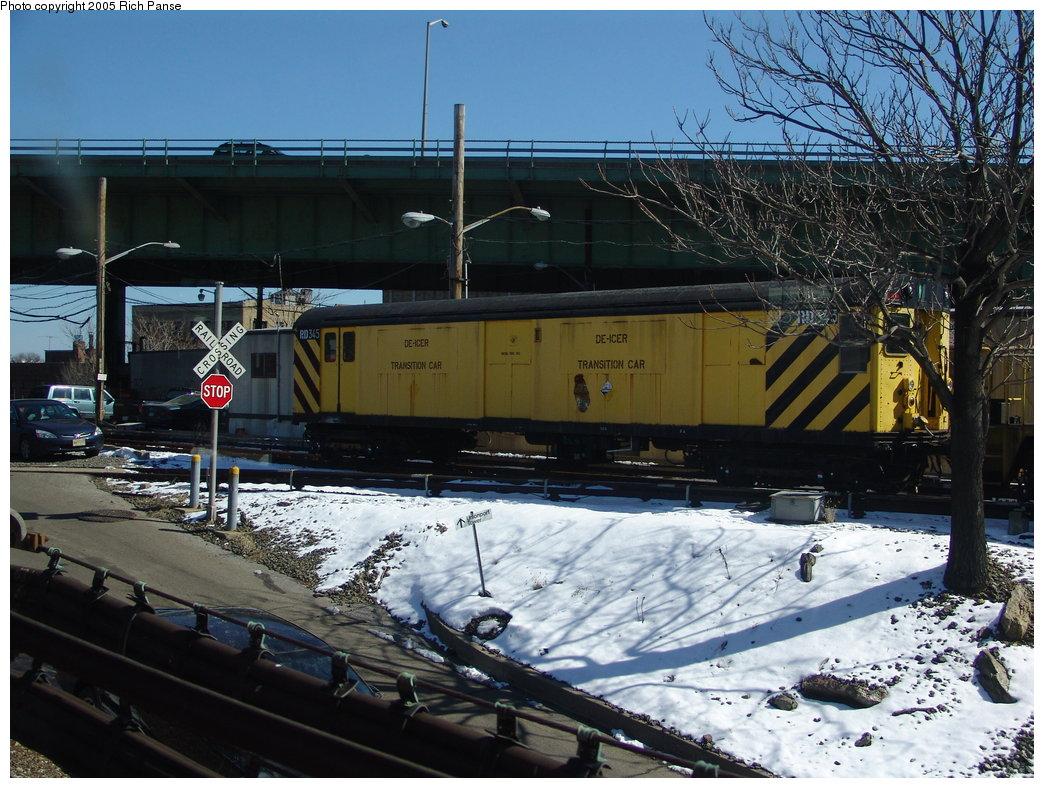 (225k, 1044x788)<br><b>Country:</b> United States<br><b>City:</b> New York<br><b>System:</b> New York City Transit<br><b>Location:</b> East 180th Street Yard<br><b>Car:</b> R-71 Rider Car (R-17/R-21/R-22 Rebuilds)  RD345 (ex-7287)<br><b>Photo by:</b> Richard Panse<br><b>Date:</b> 2/27/2005<br><b>Viewed (this week/total):</b> 1 / 3213
