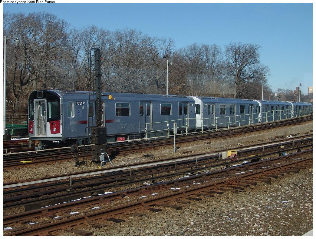 (271k, 1044x788)<br><b>Country:</b> United States<br><b>City:</b> New York<br><b>System:</b> New York City Transit<br><b>Line:</b> IRT White Plains Road Line<br><b>Location:</b> East 180th Street <br><b>Route:</b> 2<br><b>Car:</b> R-142A (Supplemental Order, Kawasaki, 2003-2004)  7751 <br><b>Photo by:</b> Richard Panse<br><b>Date:</b> 2/27/2005<br><b>Viewed (this week/total):</b> 0 / 4744