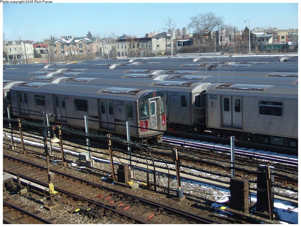 (281k, 1044x788)<br><b>Country:</b> United States<br><b>City:</b> New York<br><b>System:</b> New York City Transit<br><b>Location:</b> Unionport Yard<br><b>Route:</b> 2<br><b>Car:</b> R-142 (Primary Order, Bombardier, 1999-2002)  6931 <br><b>Photo by:</b> Richard Panse<br><b>Date:</b> 2/27/2005<br><b>Viewed (this week/total):</b> 0 / 3945