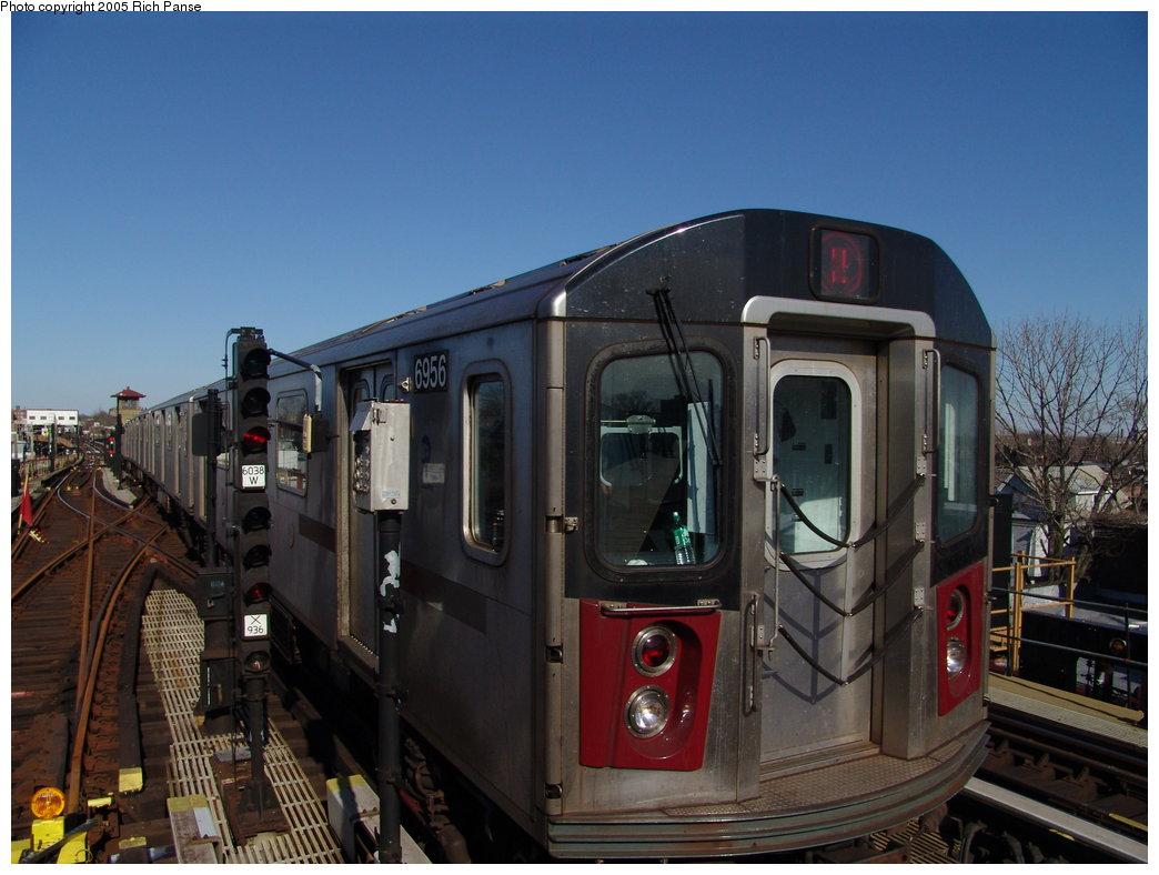 (166k, 1044x788)<br><b>Country:</b> United States<br><b>City:</b> New York<br><b>System:</b> New York City Transit<br><b>Line:</b> IRT White Plains Road Line<br><b>Location:</b> 238th Street (Nereid Avenue) <br><b>Route:</b> 2<br><b>Car:</b> R-142 (Primary Order, Bombardier, 1999-2002)  6956 <br><b>Photo by:</b> Richard Panse<br><b>Date:</b> 2/27/2005<br><b>Viewed (this week/total):</b> 1 / 4308