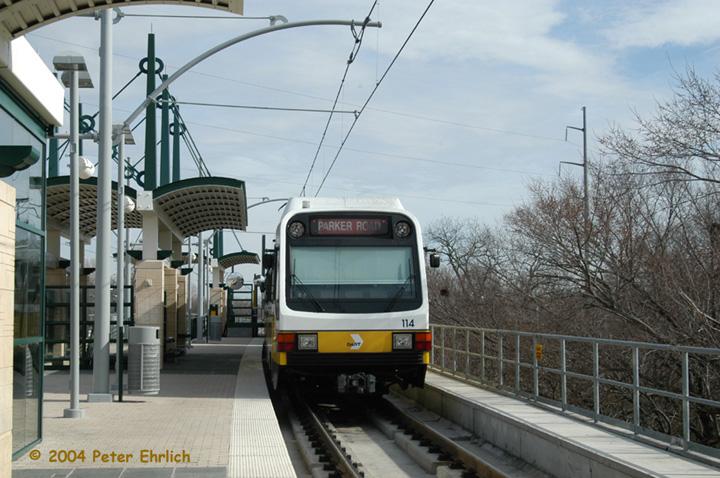 (148k, 720x478)<br><b>Country:</b> United States<br><b>City:</b> Dallas, TX<br><b>System:</b> DART<br><b>Line:</b> DART (Dallas) Red Line/Downtown Trunk<br><b>Location:</b> Forest Lane <br><b>Car:</b> DART 114/191 <br><b>Photo by:</b> Peter Ehrlich<br><b>Date:</b> 2/8/2004<br><b>Viewed (this week/total):</b> 0 / 1590