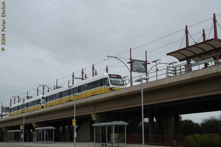 (102k, 720x478)<br><b>Country:</b> United States<br><b>City:</b> Dallas, TX<br><b>System:</b> DART<br><b>Line:</b> DART (Dallas) Red Line/Downtown Trunk<br><b>Location:</b> Spring Valley <br><b>Car:</b> DART 186/179 <br><b>Photo by:</b> Peter Ehrlich<br><b>Date:</b> 2/8/2004<br><b>Viewed (this week/total):</b> 1 / 1860