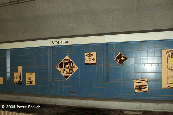 (151k, 720x478)<br><b>Country:</b> United States<br><b>City:</b> Dallas, TX<br><b>System:</b> DART<br><b>Line:</b> DART (Dallas) Red Line/Downtown Trunk<br><b>Location:</b> Cityplace/Uptown <br><b>Photo by:</b> Peter Ehrlich<br><b>Date:</b> 2/7/2004<br><b>Notes:</b> Artwork on northbound platform.<br><b>Viewed (this week/total):</b> 0 / 1139