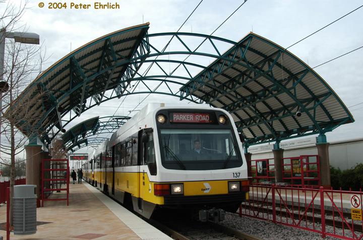 (176k, 720x478)<br><b>Country:</b> United States<br><b>City:</b> Dallas, TX<br><b>System:</b> DART<br><b>Line:</b> DART (Dallas) Red Line/Downtown Trunk<br><b>Location:</b> Arapaho Center <br><b>Car:</b> DART 137/140 <br><b>Photo by:</b> Peter Ehrlich<br><b>Date:</b> 2/8/2004<br><b>Viewed (this week/total):</b> 0 / 1985