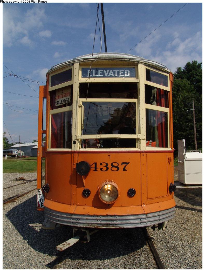 (204k, 790x1047)<br><b>Country:</b> United States<br><b>City:</b> Kennebunk, ME<br><b>System:</b> Seashore Trolley Museum <br><b>Car:</b> MBTA 4387 <br><b>Photo by:</b> Richard Panse<br><b>Date:</b> 9/4/2004<br><b>Viewed (this week/total):</b> 3 / 1702
