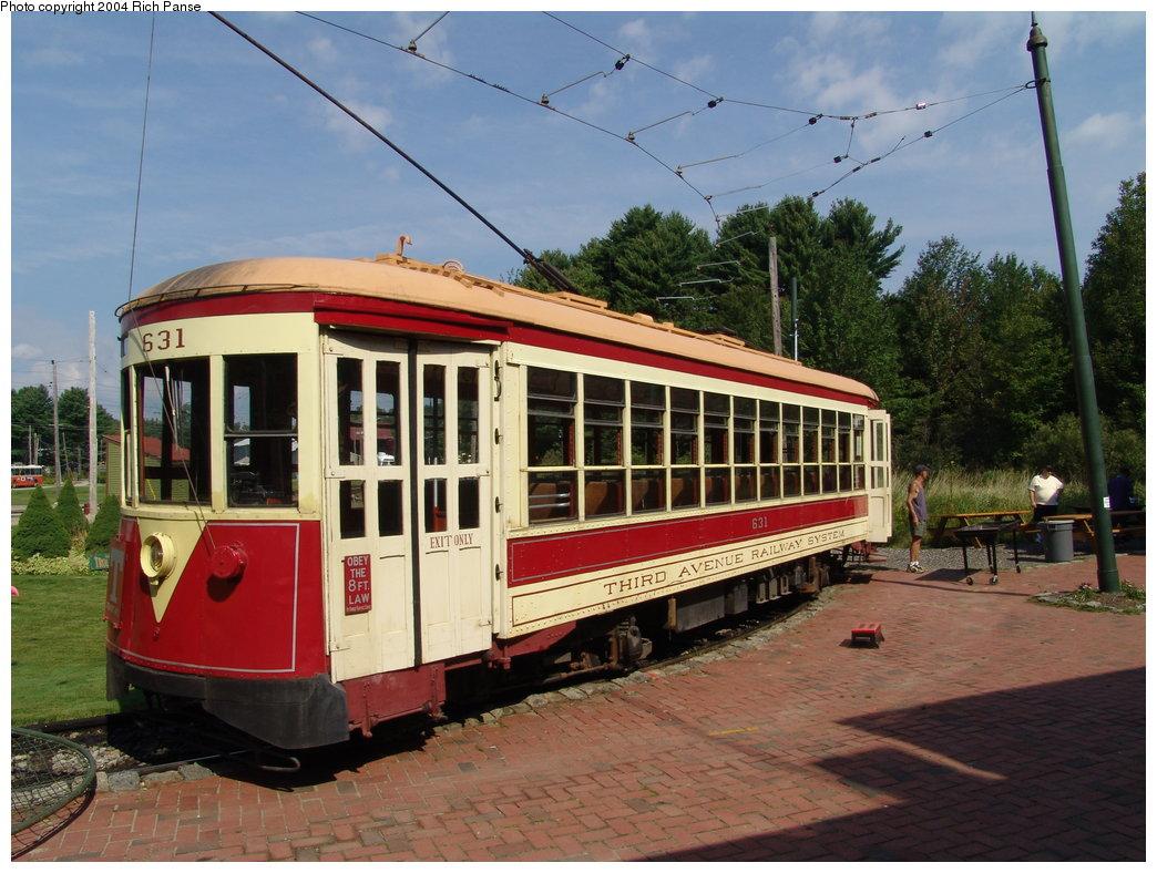 (203k, 1044x788)<br><b>Country:</b> United States<br><b>City:</b> Kennebunk, ME<br><b>System:</b> Seashore Trolley Museum <br><b>Car:</b> TARS 631 <br><b>Photo by:</b> Richard Panse<br><b>Date:</b> 9/4/2004<br><b>Notes:</b> Former Vienna 4216<br><b>Viewed (this week/total):</b> 0 / 1333