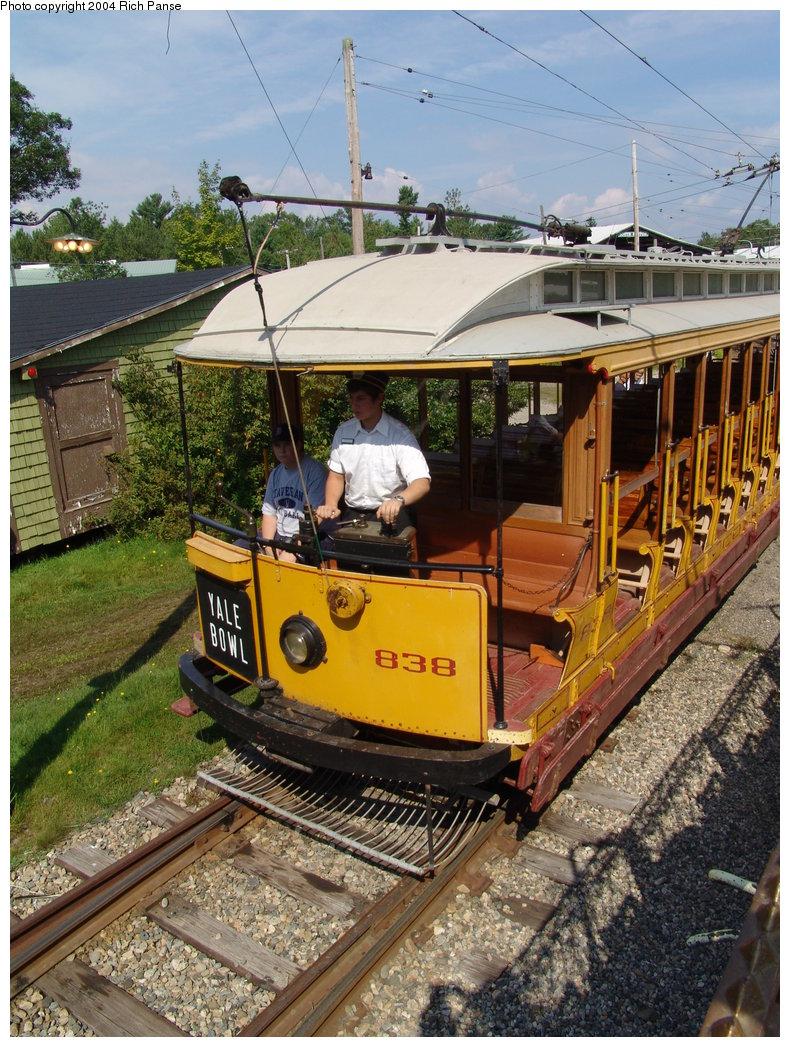 (267k, 790x1047)<br><b>Country:</b> United States<br><b>City:</b> Kennebunk, ME<br><b>System:</b> Seashore Trolley Museum <br><b>Car:</b> Connecticut Company 838 <br><b>Photo by:</b> Richard Panse<br><b>Date:</b> 9/4/2004<br><b>Viewed (this week/total):</b> 0 / 1365