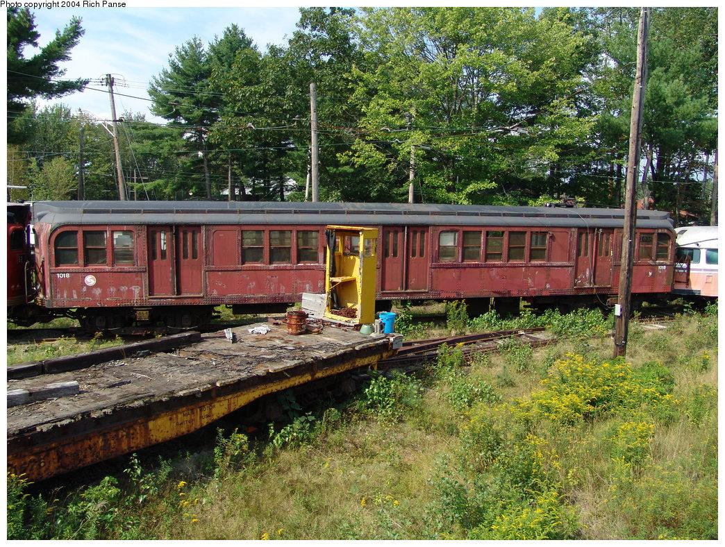 (362k, 1044x788)<br><b>Country:</b> United States<br><b>City:</b> Kennebunk, ME<br><b>System:</b> Seashore Trolley Museum <br><b>Car:</b> PTC/SEPTA B-2 DRPA Bridge Line (J.G. Brill, 1936)  1018 <br><b>Photo by:</b> Richard Panse<br><b>Date:</b> 9/4/2004<br><b>Viewed (this week/total):</b> 0 / 2595