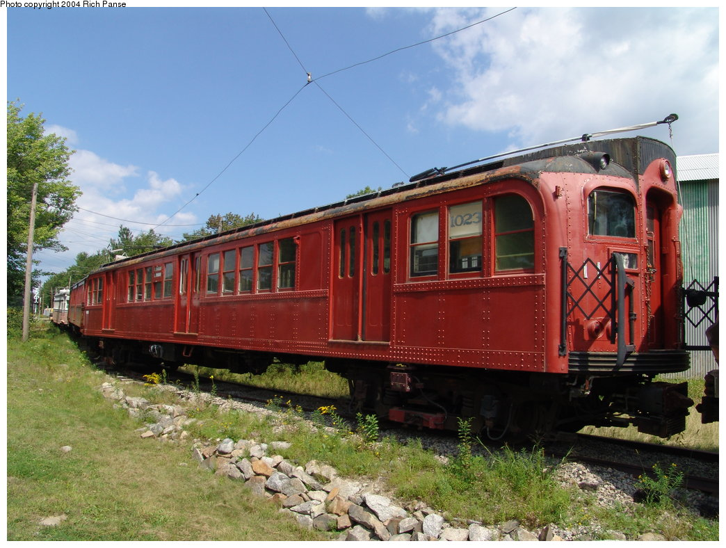 (218k, 1044x788)<br><b>Country:</b> United States<br><b>City:</b> Kennebunk, ME<br><b>System:</b> Seashore Trolley Museum <br><b>Car:</b> PTC/SEPTA B-2 DRPA Bridge Line (J.G. Brill, 1936)  1023 <br><b>Photo by:</b> Richard Panse<br><b>Date:</b> 9/4/2004<br><b>Viewed (this week/total):</b> 1 / 2475