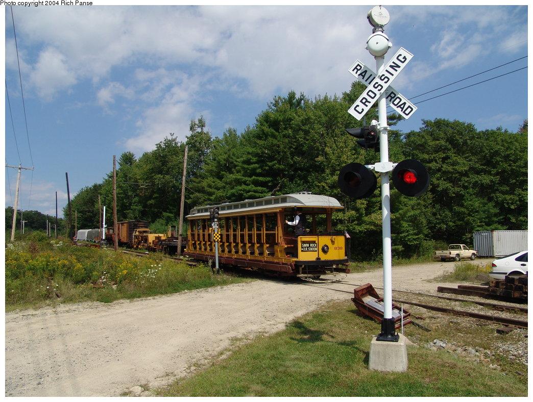 (242k, 1044x788)<br><b>Country:</b> United States<br><b>City:</b> Kennebunk, ME<br><b>System:</b> Seashore Trolley Museum <br><b>Car:</b> Connecticut Company 838 <br><b>Photo by:</b> Richard Panse<br><b>Date:</b> 9/4/2004<br><b>Viewed (this week/total):</b> 0 / 1400