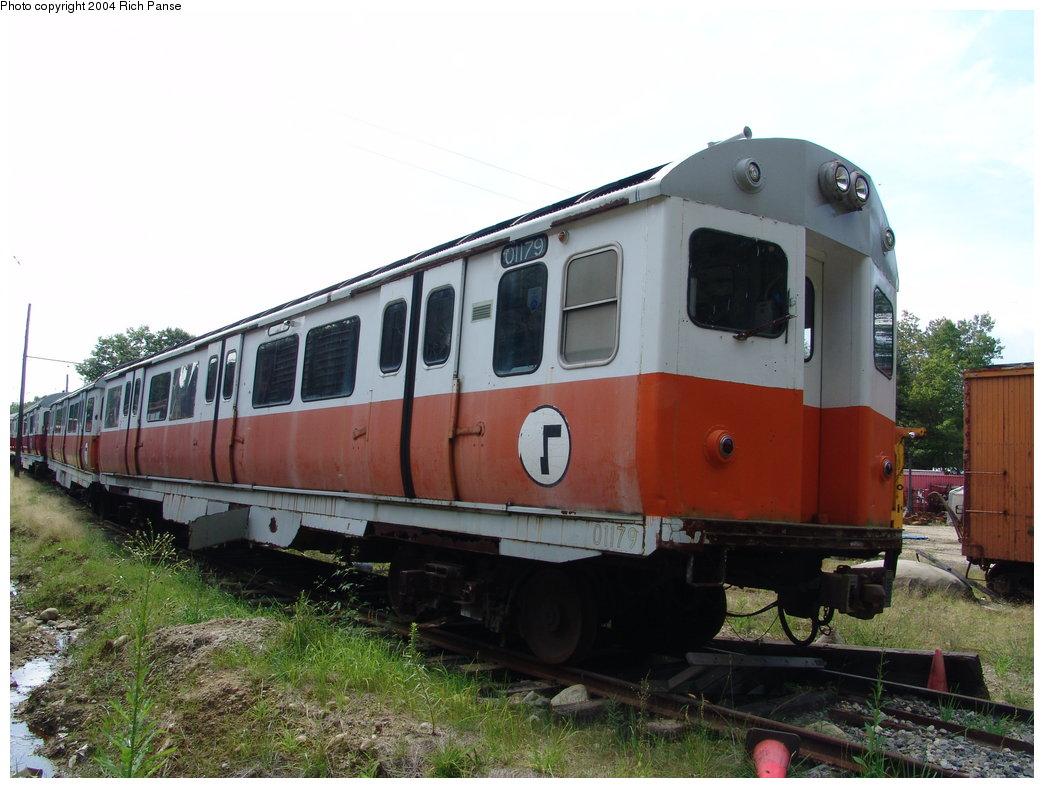 (172k, 1044x788)<br><b>Country:</b> United States<br><b>City:</b> Kennebunk, ME<br><b>System:</b> Seashore Trolley Museum <br><b>Car:</b> MBTA 01100 Series (Pullman-Standard, 1957)  01179 <br><b>Photo by:</b> Richard Panse<br><b>Date:</b> 9/4/2004<br><b>Viewed (this week/total):</b> 3 / 3015