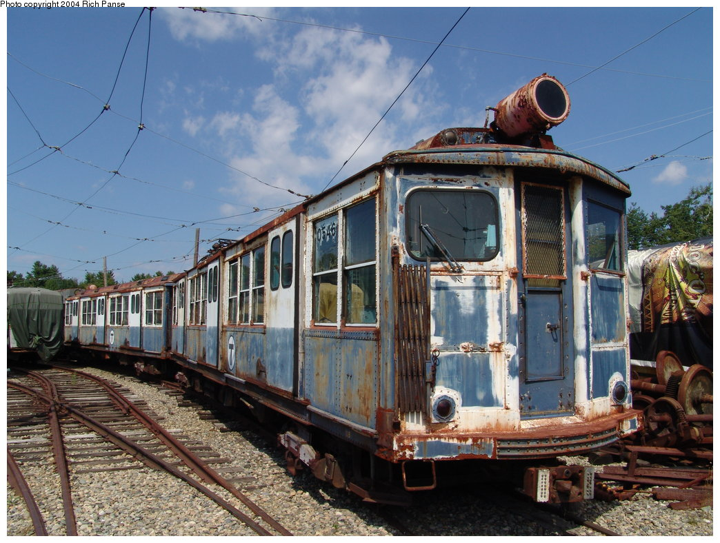 (231k, 1044x788)<br><b>Country:</b> United States<br><b>City:</b> Kennebunk, ME<br><b>System:</b> Seashore Trolley Museum <br><b>Car:</b> MBTA 0500 Series (Pullman, 1923)  0546 <br><b>Photo by:</b> Richard Panse<br><b>Date:</b> 9/4/2004<br><b>Viewed (this week/total):</b> 2 / 2871