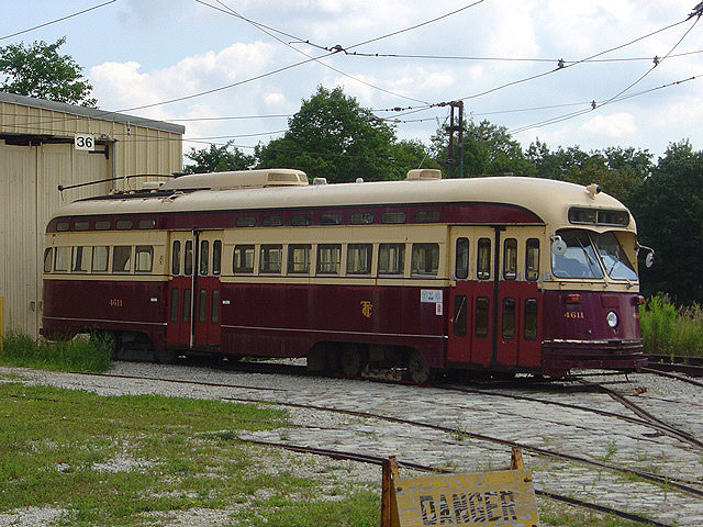 (135k, 640x480)<br><b>Country:</b> Canada<br><b>City:</b> Toronto<br><b>System:</b> Halton County Radial Railway <br><b>Car:</b> PCC (TTC Toronto) 4611 <br><b>Photo by:</b> Michael Tricarico<br><b>Date:</b> 8/16/2004<br><b>Viewed (this week/total):</b> 2 / 3496