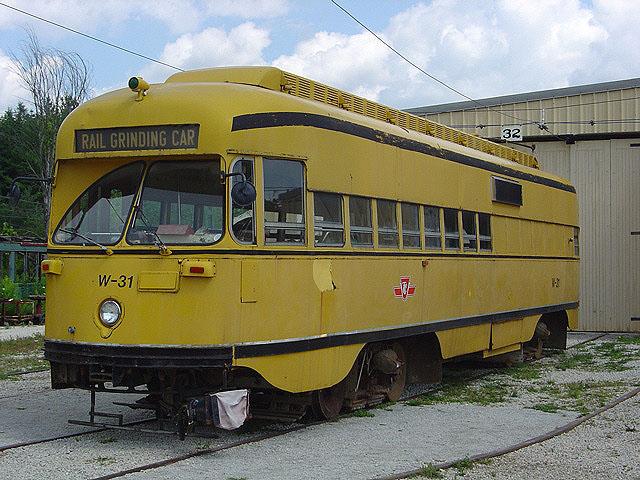 (129k, 640x480)<br><b>Country:</b> Canada<br><b>City:</b> Toronto<br><b>System:</b> Halton County Radial Railway <br><b>Car:</b> PCC (TTC Toronto) W-31 (ex-4668)<br><b>Photo by:</b> Michael Tricarico<br><b>Date:</b> 8/16/2004<br><b>Viewed (this week/total):</b> 3 / 3278